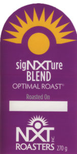 sigNXTure Blend - bag label